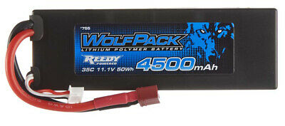 Associated WolfPack 3S 11.1V 4500mAh 35C LiPo Battery #755