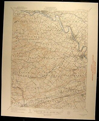 Phoenixville Pennsylvania Pottstown 1944 vintage USGS original Topo chart map