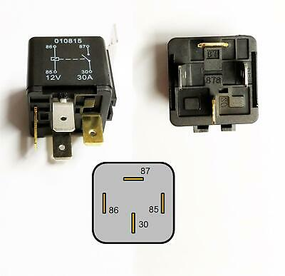 QUALITY 4 PIN Relay 12V 30A Current Protection Heavy Duty Van Jeep Caravan  Boat