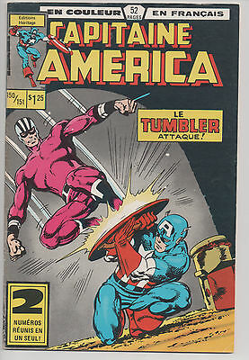 CAPTAIN AMERICA #150/151 french comic français EDITIONS HERITAGE