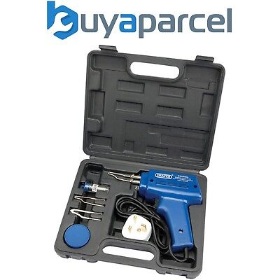 Draper 71420 240v Soldering Gun Kit in Hard Carry Case Includes Flux Tips Solder