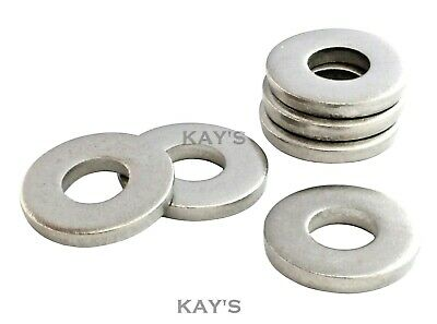 Extra Thick Flat Heavy Spacer Washers A2 Stainless Steel Metric Sizes, M3 To M20