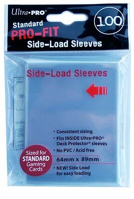100 Ultra Pro Standard Pro-Fit Sleeves SIDE-LOAD Sleeves (64 x 89mm)