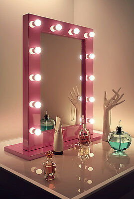 Diamond X Pink Hollywood Makeup Mirror with Daylight Dimmable LED k153CW