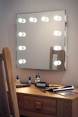 Diamond X Wallmount Hollywood Makeup Mirror with Warm White Dimmable LED k89WW