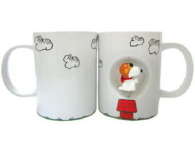 Peanuts Snoopy as the Flying Ace Ceramic 12 oz Spinner Coffee Mug, NEW BOXED