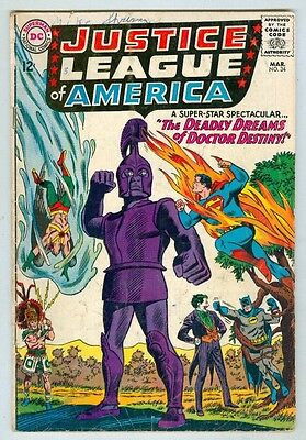 Justice League of America #34 March 1965 VG