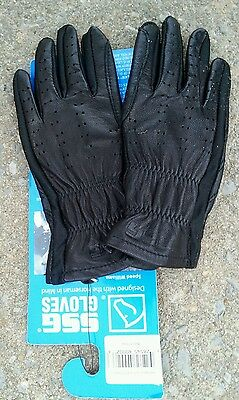 NWT SSG 4000 Pro Show Size 4 Leather Riding / Show Gloves Black