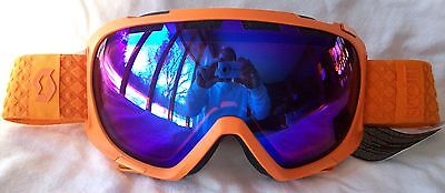 39d379f6835a NEW  110 Scott FIX Mens RARE Orange Winter Snow Ski goggles Smith Blue lens