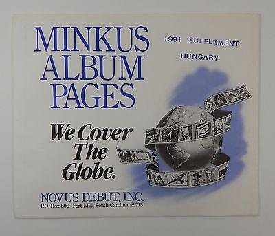 Minkus Hungary 1991 Supplement Stamp Album Pages