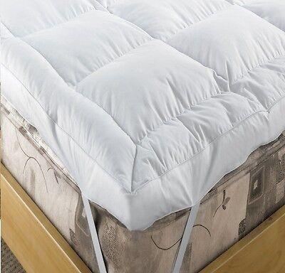 "Luxury Duck Feather & Down Mattress Topper EXTRA DEEP 5"" (12.5cm) ENHANCER WHITE"