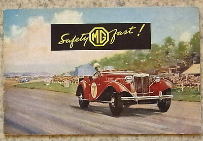 MG MIDGET TD Sports Car Sales Brochure c1950