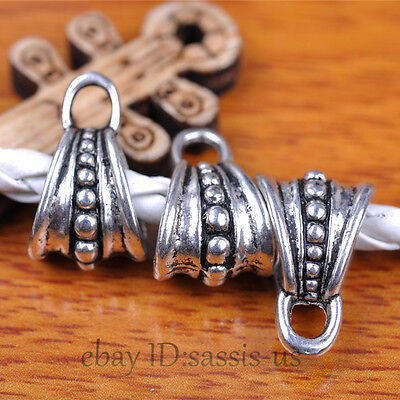 50pcs Charms Tibet Silver Connector Bail Pandent DIY Jewery Making Top A7290
