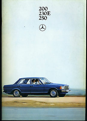 (113B) Catalogue Mercedes Benz 200 230E 250