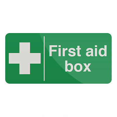 First Aid Box Sign 200 x 100mm Self-Adhesive  Signage Safety Signs