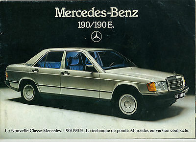 (113B) Catalogue Mercedes Benz 190 / 190E