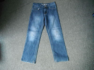"Denim Co Straight Jeans Waist 27"" Leg 25"" Faded Dark Blue Boys 10 - 11 Yrs Jeans"