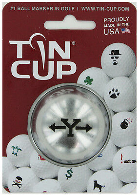Tin Cup. Golf Ball Marker System. Alpha Players Letter Y