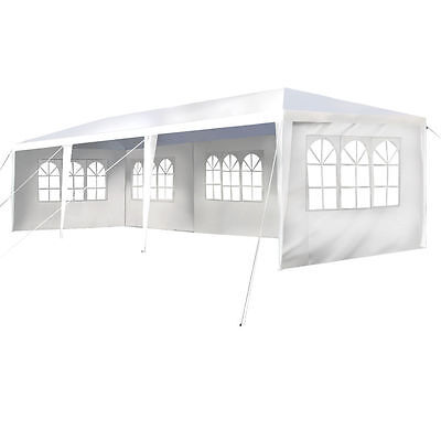 10x30' Canopy Party Wedding Outdoor Event Waterproof Tent Gazebo 5 Wall Windows