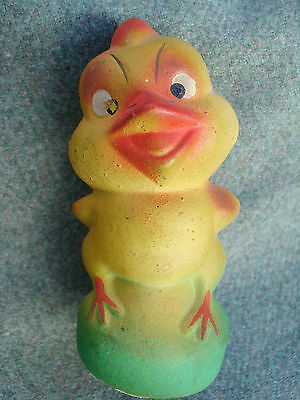 VINTAGE 1930s GERMAN EASTER CHICK CHICKEN PAPER MACHE TOY CANDY CONTAINER