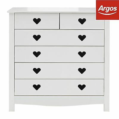 Mia 4 + 2 Drawer Chest - White. From the Official Argos Shop on ebay