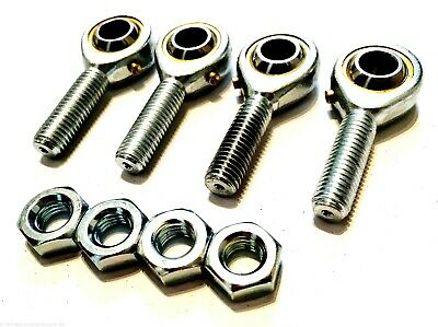 4 pack M5 MALE KART TRACK ROD ENDS - ROSE JOINTS + LOCK NUTS Race Rally