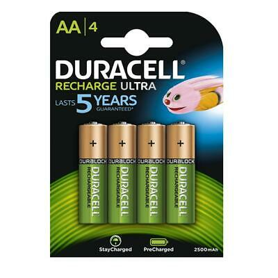 4X Duracell Duralock AA 2500mAh Batteries Rechargeable Ultra LR6 NiMH Battery