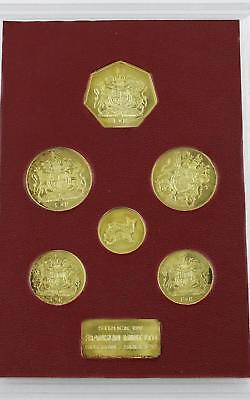 Franklin Mint 1972 Royal Silver Wedding Proof Gold Plated Coin Set