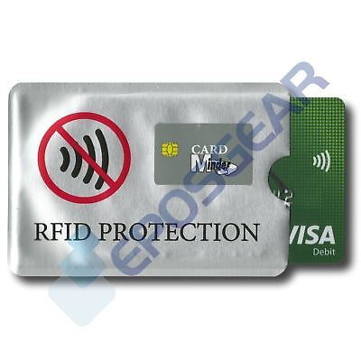 Card Minder RFID Blocking Contactless Debit Credit Protection Sleeve Wallet
