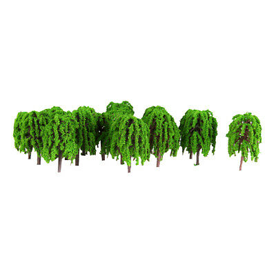 50pcs Model Tree Railway Park Architecture Diorama Scenery 1:250 Light Green