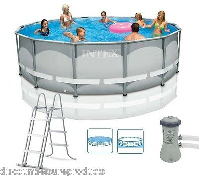 """Intex 14ft x 42"""" Ultra Frame Above Ground Swimming Pool With Filter Pump #28310"""