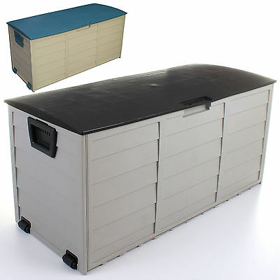 Large Garden Storage Box Cushion Utility Plastic Shed Outdoor Chest 250L
