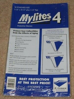 150 Mylites 4 Mil Mylar Bronze/Silver Comic Book Bags STANDARD +Full Back Boards