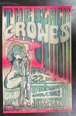 Black Crowes Signed X4 New Orleans 2005 Concert Poster Chris Robinson Autograph