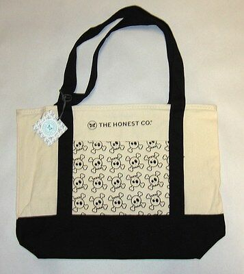 The Honest Company Skull Pocket Tote Canvas Bag NWT