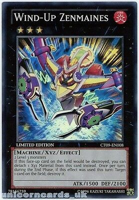 CT09-EN008 Wind-Up Zenmaines Super Rare Limited Edition Mint YuGiOh Card