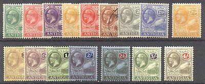 ANTIGUA #42-57 Mint - 1921-29 K G V Set