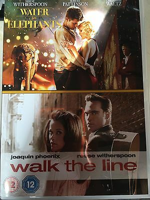 WATER FOR ELEPHANTS / WALK THE LINE Reese Witherspoon Double Bill UK DVD