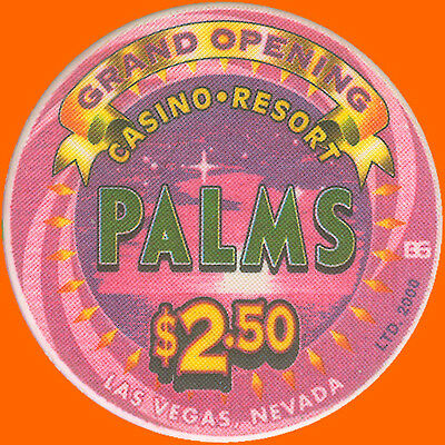 Palms $2.50 2001 Grand Opening B&g Casino Chip Las Vegas Nv - Free Shipping