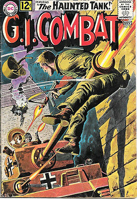 G.I. Combat Comic Book #96, DC Comics 1962 VERY GOOD