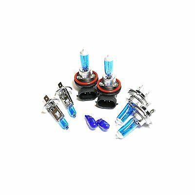 Peugeot 4007 H7 H11 501 55w ICE Blue Xenon HID High//Low//Side Headlight Bulbs Set