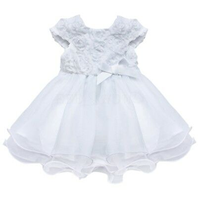 Baby Girl Clothes Rose Lace Tulle Gown Fancy Party Princess Dress Birthday Gift