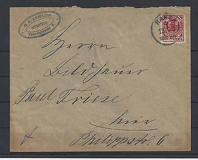 Privatpost Stettin 2½ Pf. auf Brief 13.7.99 (35521