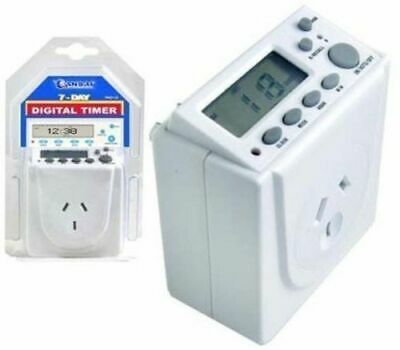 2 X Digital Timer Switch 240V Automation Electric Programmable Powerpoint 7 Days