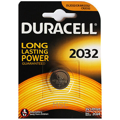 Duracell 2032 Lithium Coin Battery 3V DL2032/CR/BR2032/CR2032