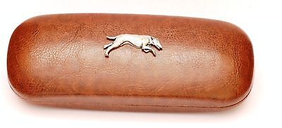 Greyhound Leather Effect PU Glasses  Case Hunting Gift Present