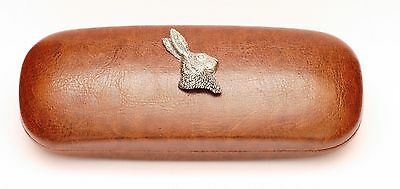 Hare Head Leather Effect PU Glasses  Case Hunting shooting Gift Present