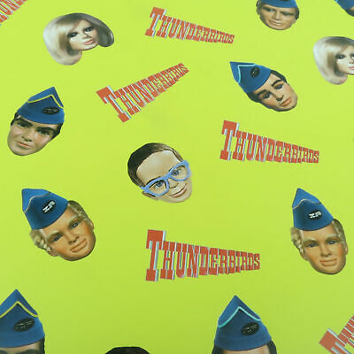 3 Sheets Thunderbirds Characters Faces Gift Wrap Wrapping Paper Birthday Brains