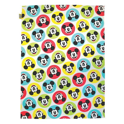 Mickey Mouse Spotty 100% Cotton Tea Towel Retro Kitchen Dish Cloth Disney Minnie