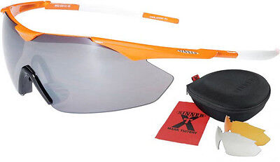 Sinner The Miler Cycling Mens Sunglasses - Orange